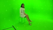 Tracking markers on a greenscreen